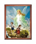 Guardian Angel with children religious image