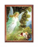 Guardian Angel with a boy religious image