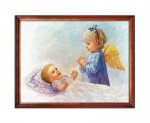Guardian Angel with a child religious image