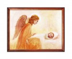 Guardian Angel watching over a child religious image