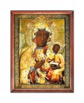 Our Lady of Jasna Gora in an amber ​​dress religious image