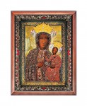 Our Lady of Jasna Gora in a ruby ​​dress religious image