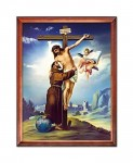 Jesus Christ and St. Francis of Assisi religious image