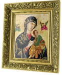 Our Lady of Perpetual Help ceramic painting
