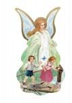 Guardian Angel with children on the footbridge Icon