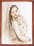 Mother of God with the baby Jesus religious image