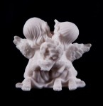 Two little angels alabaster figurine