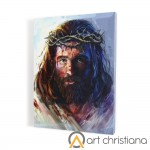 Christ wearing a crown of thorns  print on canvas, wall art