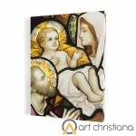 Holy Family print on canvas, stained glass, wall art