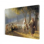 On the way to Bethlehem, print on canvas, wall art