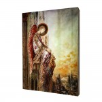 Angel painting, print on a linden board