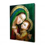 Our Lady of Good Counsel painting, print on a linden board