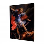 Archangel Michael painting, print on a linden board