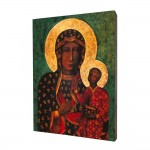 Our Lady of Czestochowa painting, print on a linden board