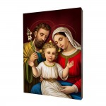 Holy Family painting, print on a linden board