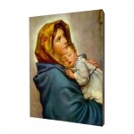 Gipsy Mother of God painting, print on a linden board