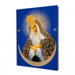 Our Lady of the Gate of Dawn painting, print on a linden board