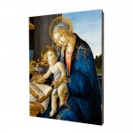 Mother of God with the Child painting, print on a linden board