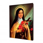 Saint Teresa painting, print on a linden board