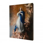 Our Lady Immaculate painting, print on a linden board