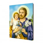 Saint Joseph painting, print on a linden board