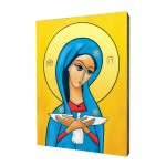 Pneumatophore, Mother of God carrying the Holy Spirit painting, print on a linden board