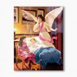 Guardian Angel over the crib, modern religious plexiglass painting