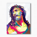 Christ in the crown of thorns, modern religious plexiglass painting