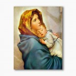 Gypsy Mother of God modern religious plexiglass painting