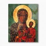 Our Lady of Czestochowa modern religious plexiglass painting