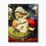 Nursing Mother of God modern religious plexiglass painting