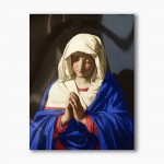 Our Lady in prayer, modern religious plexiglass painting
