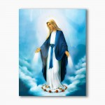 Our Lady Immaculate, modern religious plexiglass painting