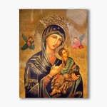 Our Lady of Perpetual Help, modern religious plexiglass painting