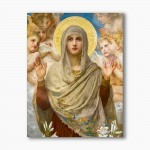 Mother of God modern religious plexiglass painting