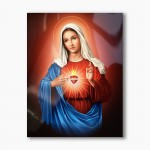 Immaculate Heart of Mary, modern religious plexiglass painting