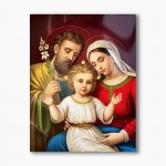 Holy Family, modern religious plexiglass painting