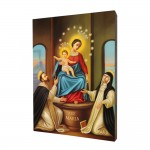 Our Lady of Pompeii painting, print on a linden board
