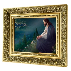 Christ on the Mount of Olives  ceramic painting