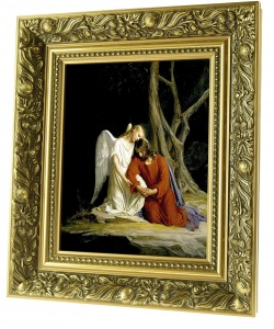 Christ in Gethsemane ceramic painting