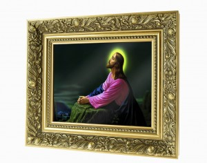 Christ in the Garden of Gethsemane ceramic painting