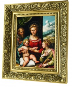 Mother of God with the Child ceramic painting