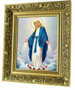 Our Lady Immaculate ceramic painting