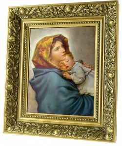God's Mother ceramic painting