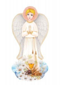 Guardian Angel Icon - First Communion gift for a boy