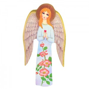 Spring Guardian Angel Handmade Icon