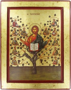 Christ with Apostles, Tree of Life Icon