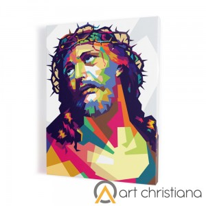 Christ in the crown of thorns modern print on canvas, wall art