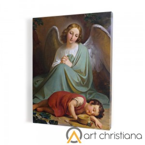 Guardian Angel print on canvas, wall art