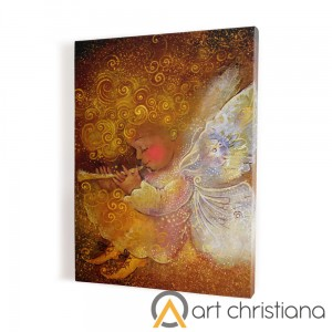 Angel print on canvas, wall art